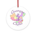 Guangze China Map Ornament (Round)