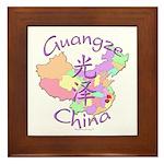 Guangze China Map Framed Tile