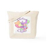 Gutian China Map Tote Bag
