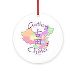 Gutian China Map Ornament (Round)