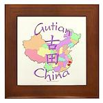 Gutian China Map Framed Tile