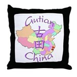 Gutian China Map Throw Pillow