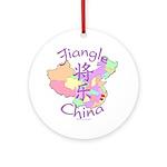 Jiangle China Map Ornament (Round)