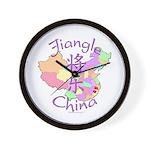Jiangle China Map Wall Clock