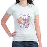 Jiangle China Map Jr. Ringer T-Shirt