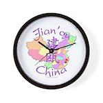 Jian'ou China Map Wall Clock
