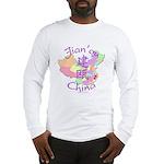 Jian'ou China Map Long Sleeve T-Shirt