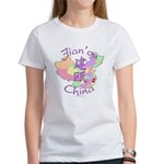 Jian'ou China Map Women's T-Shirt