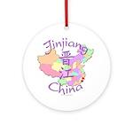 Jinjiang China Map Ornament (Round)