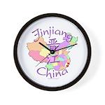 Jinjiang China Map Wall Clock