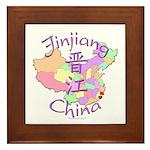 Jinjiang China Map Framed Tile