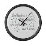 A Star Danced Large Wall Clock