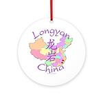 Longyan China Map Ornament (Round)