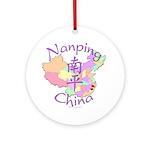 Nanping China Map Ornament (Round)