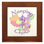 Nanping China Map Framed Tile
