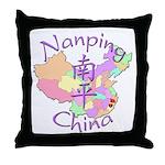Nanping China Map Throw Pillow