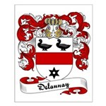 Delaunay Family Crest Small Poster