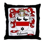 Delaunay Family Crest Throw Pillow