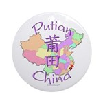 Putian China Map Ornament (Round)