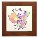 Putian China Map Framed Tile