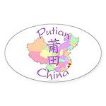 Putian China Map Oval Sticker (10 pk)