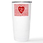 I Love You Heart Stainless Steel Travel Mug