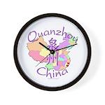 Quanzhou China Map Wall Clock