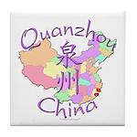 Quanzhou China Map Tile Coaster