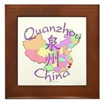 Quanzhou China Map Framed Tile