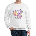 Quanzhou China Map Sweatshirt