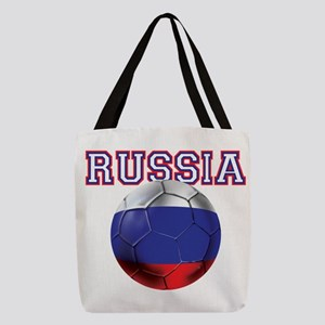 Russian Football Polyester Tote Bag