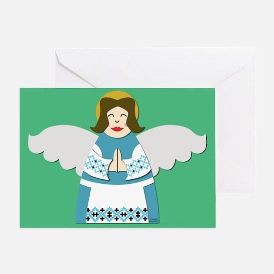 Ukrainian Angel Greeting Card UKR