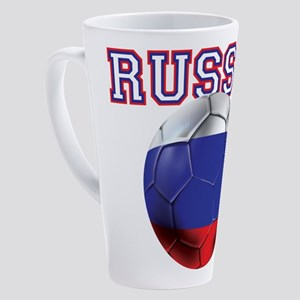 Russian Football 17 Oz Latte Mug