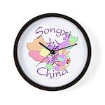 Songxi China Map Wall Clock