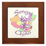Songxi China Map Framed Tile
