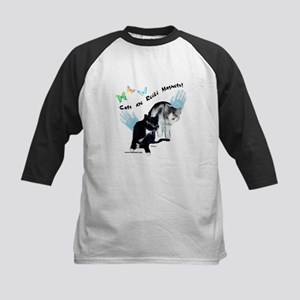 Cats Are Reiki Magnets Kids Baseball Jersey