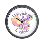 Wuyishan China Map Wall Clock