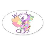 Wuyishan China Map Oval Sticker (10 pk)