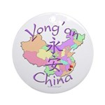 Yong'an China Map Ornament (Round)