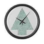 Pine Tree Large Wall Clock
