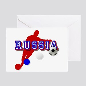 Russia Soccer Player Greeting Cards