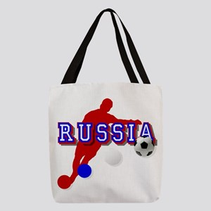 Russia Soccer Player Polyester Tote Bag