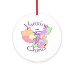 Yunxiao China Map Ornament (Round)