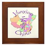 Yunxiao China Map Framed Tile