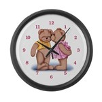 Teddy Love Large Wall Clock