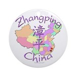 Zhangping China Map Ornament (Round)