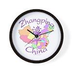 Zhangping China Map Wall Clock