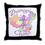 Zhangping China Map Throw Pillow