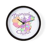 Zhangzhou China Map Wall Clock