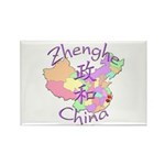 Zhenghe China Map Rectangle Magnet (10 pack)